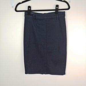 Armani Exchange Denim Fitted Pencil Skirt Size 0